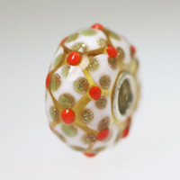 Gold and Orange Unique Bead