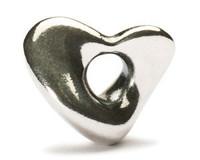 Soft Heart Silver Trollbeads.