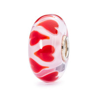 Symphony Red heart Glass  Trollbeads