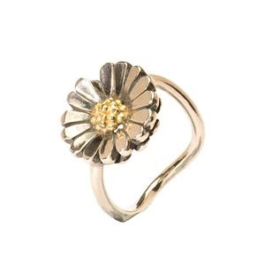 Daisy Ring In Silver and Gold.