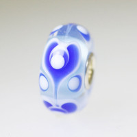Blue Unique Hearts Bead