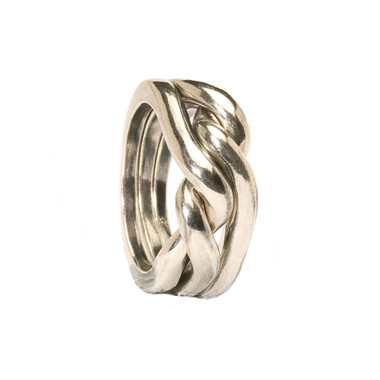 Strength, Courage and Wisdom Trollbeads Silver Ring
