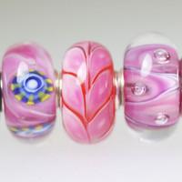Three Matching Unique  Beads