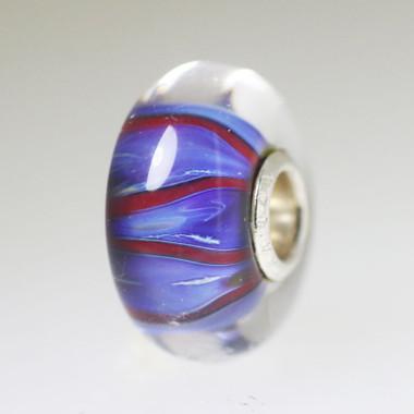 Blue & Red Unique Bead