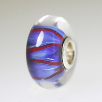 Blue & Red Unique Bead