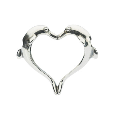 Dolphins Heart Pendant sterling silver