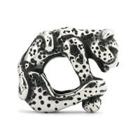 Leopard Sterling Silver Trollbead