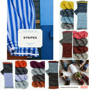 Mason-Dixon Field Guide #1: Stripes (soft cover book) with yarn kit OPTIONS