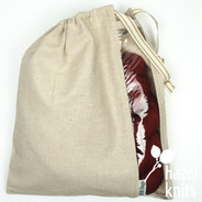 Peek-a-boo bag by Inkbags - Natural with Natural Ribbon