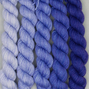 Ombre Set - Purple tinged Periwinkle Solid (Artisan Sock, 5 x 105 yards each)