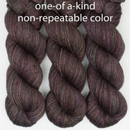OOAK dark olive, purples, browns - Entice