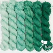 Mint Condition Ombre' Set (Artisan Sock, 6 x 150 yards each)