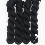 Signature Black - Individual Quarter Skein, Artisan Sock