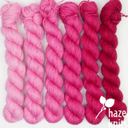 Ultra Pink Ombre' Set (Artisan Sock, 6 x 150 yards each)