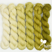 Green Tea Ombre Set (Artisan Sock, 6 x 150 yards each)