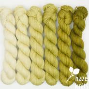 Green Tea Gradient Set (Artisan Sock, 6 x 150 yards each)