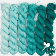 Breeze Gradient Set (Artisan Sock, 6 x 150 yards each)
