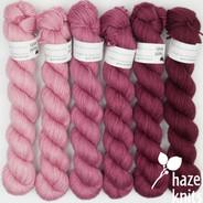 Rosy Gradient Set (Artisan Sock, 6 x 150 yards each)