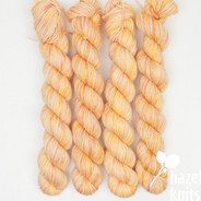 OOAK (one of a kind) Yellows, Peaches, Pinks  - Individual Quarter Skein, Artisan Sock