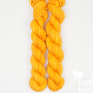 OOAK (one of a kind) Bright Saffron - Individual Quarter Skein, Artisan Sock