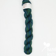 OOAK (one of a kind) Dark Greenlake - Individual Quarter Skein, Artisan Sock