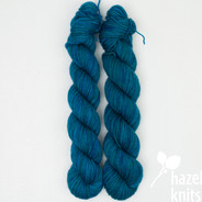 OOAK (one of a kind) Blue-Green - Individual Quarter Skein, Artisan Sock