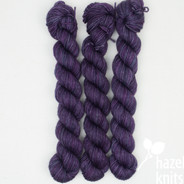 OOAK (one of a kind) Purple Layers - Individual Quarter Skein, Artisan Sock