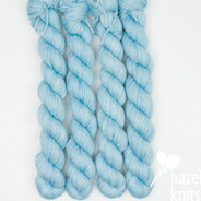 Light Blue, similar to Icicle (OOAK) - Individual Quarter Skein, Artisan Sock