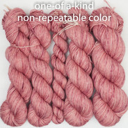 "OOAK - Soft Strawberry Layered Pinks Entice MCN - ""Split Skein"""
