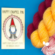 Happy Garden Gnome -  Enamel Pin