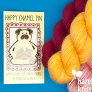 Knitting Pug - Enamel Pin