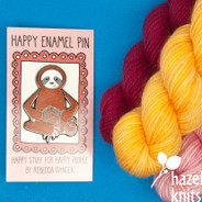 Knitting Sloth - Enamel Pin