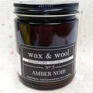 Amber Noir Candle by Wax & Wool