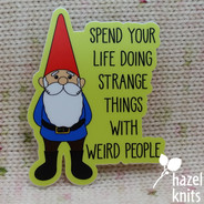 Happy Hippy Garden Gnome - Vinyl Sticker, Water and Weatherproof