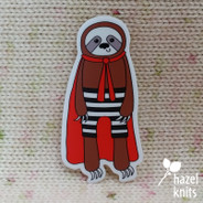 Stanley Superhero Sloth - Vinyl Sticker, Water and Weatherproof