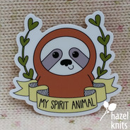 Spirit Animal Sloth - Vinyl Sticker, Water and Weatherproof