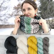 Pineleaf Cowl Kit - neutrals (pattern not included)