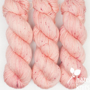 OOAK Speckles - pinky coral and magenta Artisan Sock