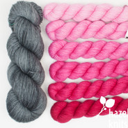 Ultra Pink Ombre' Set, Artisan Sock - kit options available