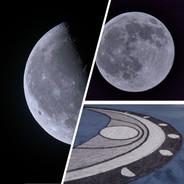 Lunar Cycle Set - Artisan Sock - blue
