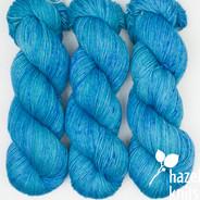 OOAK (one of a kind) watery blues Artisan Sock