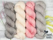 Olive Pink set 2- Artisan Sock