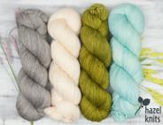 Olive Pink set 3- Artisan Sock