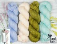 Olive Pink set 4- Artisan Sock