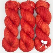 OOAK (one of a kind) orange layers Artisan Sock