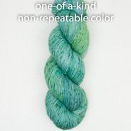 OOAK (one of a kind) green-blue speckle Artisan Sock