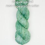 OOAK (one of a kind) green-blue speckle 3 Artisan Sock