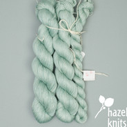 Frost Filigree Silk - split where there was a knot in the skein
