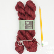 OOAK (one of a kind) brickish red Entice - split where there was a knot in the skein