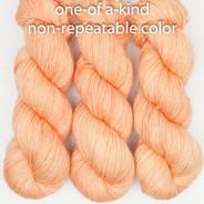 OOAK medium apricot/orange Artisan Sock